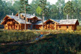 Проект деревянного спа- комплекса «Каплан» — 380м2