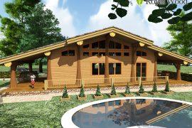 Проект деревянного дома по безусадочной технологии «Ламби»- 134 м2