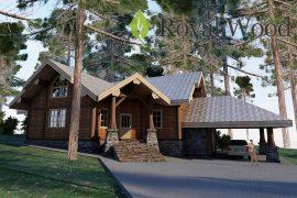 Проект деревянного дома по технологии post and beam «Дельта» — 222м2