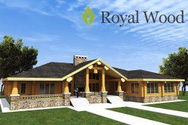 Проект одноэтажного деревянного дома по технологии post and beam «Гринвич» — 464 м2