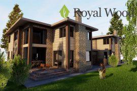 Проект дома по технологии timber frame на две семьи «Терфорд» — 213/427 м2