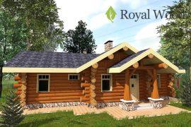 Проект одноэтажного деревянного дома из кедра площадью 104 м2 — «Карлстон»