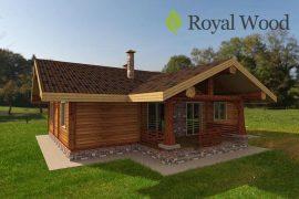 Проект деревянного дома из кедра «Уоллес» — 134 м2