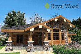 Проект деревянного дома по безусадочной технологии post and beam «Форествиль» — 176 м2