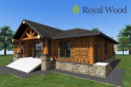Проект одноэтажного деревянного дома «Кейсон» -208м2