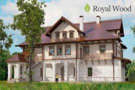 Проект деревянного дома из бруса красного канадского кедра «Делавер» — 560м2