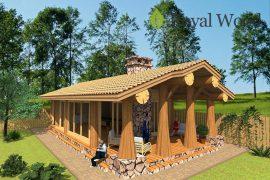 Проект деревянного летнего дома — билльярдной «Билли» — 71 м2
