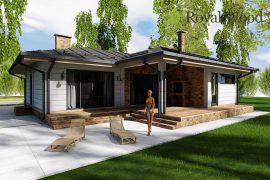 Проект деревянного дома по безусадочной технологии «Алма» — 130,5 м2