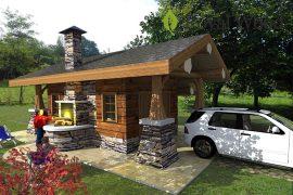 Проект гаража по технологии post and beam — 27м2