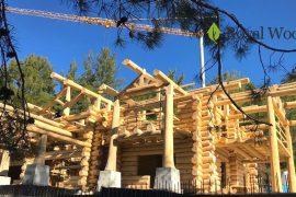 Производство деревянного дома площадью 500м2 для заказчика из Кипра
