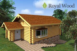 Проект большой деревянной бани 6×9 метров с цоколем «Вестлок» — 103м2