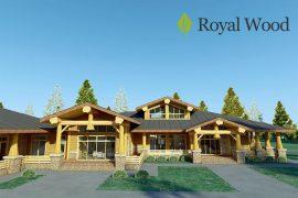 Проект деревянного одноэтажного дома из массива кедра «Россланд» -308м2