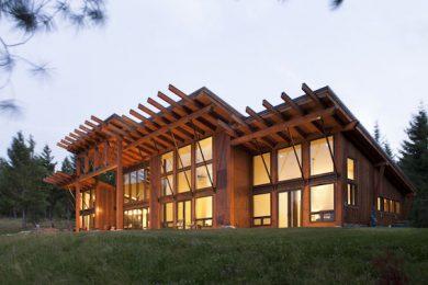 Дома из кедра по технологии timber frame
