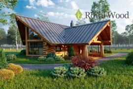 Проект деревянного дома — бани «Келоуна» — 89м²;