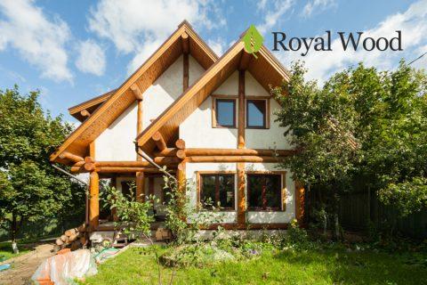 Деревянный дом по безусадочной технологии post and beam площадью 150 м².