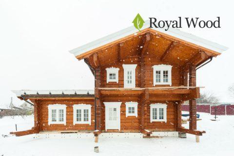 Деревянный дом из лафета площадью 160 м². Норвежская рубка