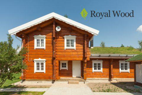 Дом из лафета, сруб норвежской рубки площадью 200м².