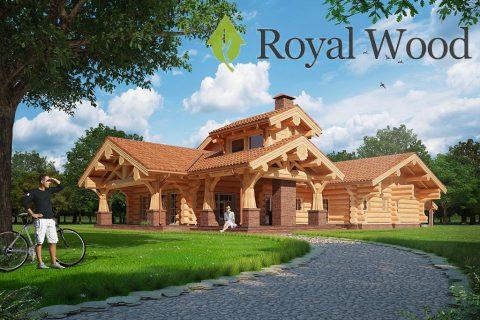 Проект деревянного дома из красного канадского кедра «Москва» — 480м²
