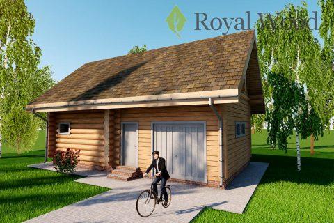 Проект деревянной рубленной бани «Филд» — 120м²
