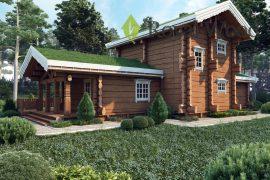 Проект деревянного дома из лафета «Блумфилд» — 180м²