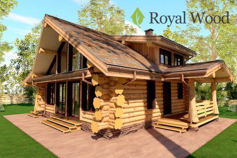 Проект деревянного дома из массива кедра «Тофино» — 113,8м²