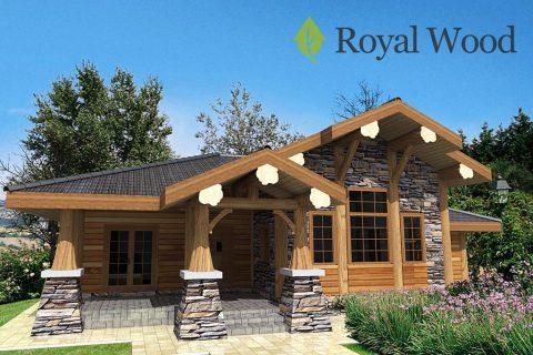 Проект деревянного дома по безусадочной технологии post and beam «Форествиль» — 176 м²