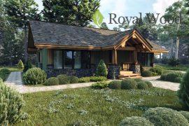 Проект деревянного дома по технологии post and beam «Квебек» — 120м²