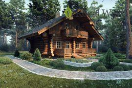 Проект небольшого деревянного дома-бани «Лунд» — 110м²