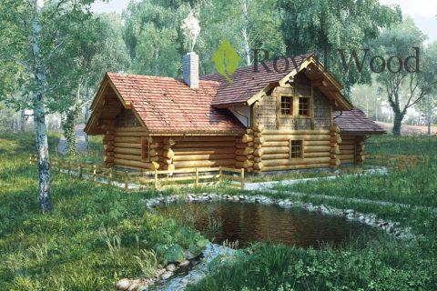 Проект деревянного дома с баней «Ривервью» — 165м²