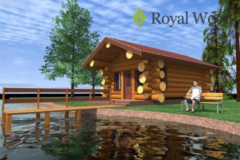 Проект небольшой деревянной бани «Леви» — 36 м²