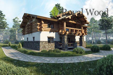 Проект деревянного дома в стиле шале «Савона» — 200м²