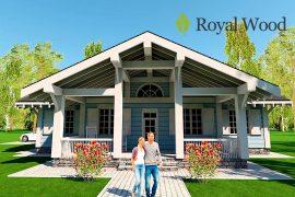 Проект деревянного дома по безусадочной технологии «Кроуфорд» — 203,2м²