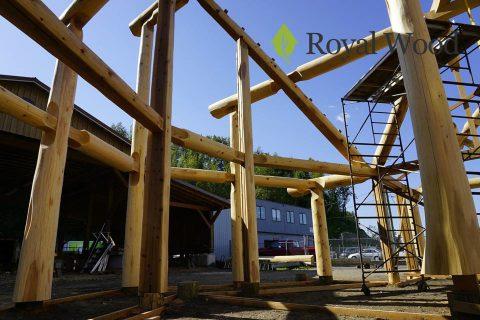 Настоящий канадский дом из красного кедра по технологии post and beam