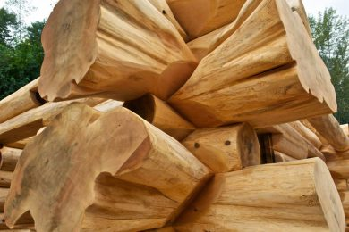 Рубка деревянных домов в «бриллиантовую чашу»