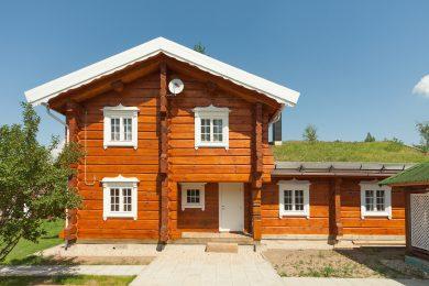 Деревянные дома из лафета, норвежская рубка